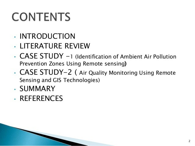 Literature review on environmental pollution