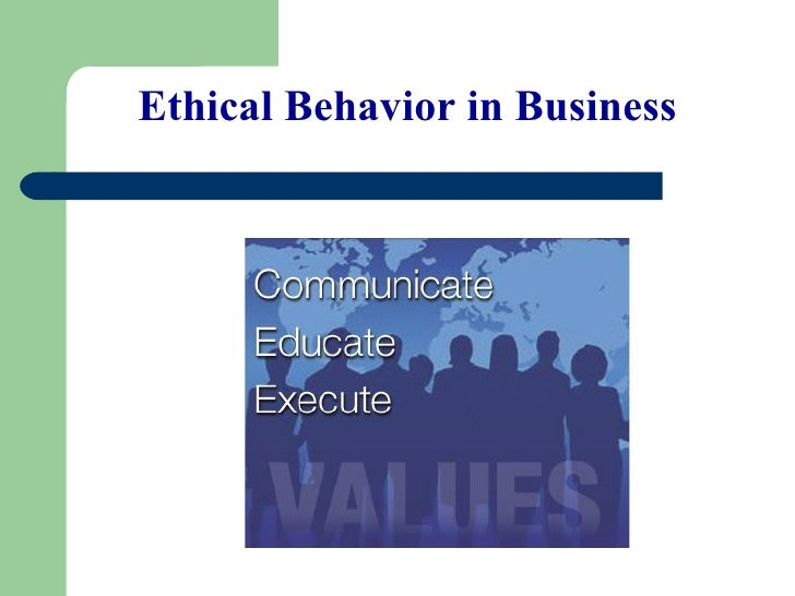 13.1 Ethical Behavior