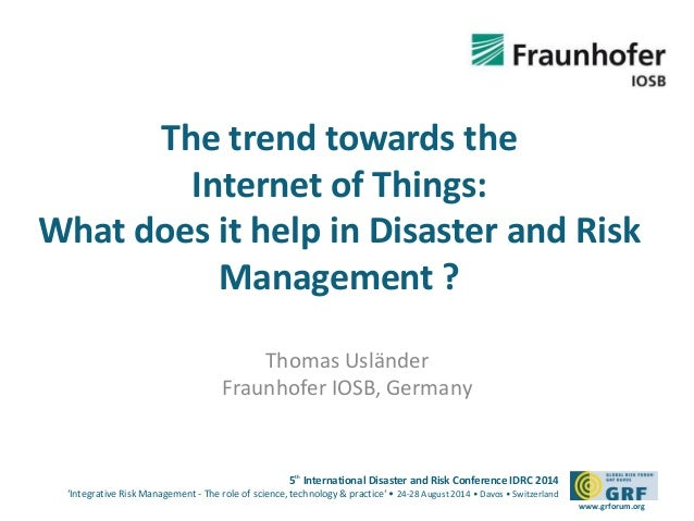 1320 IoT Trend and Disaster and Risk Management