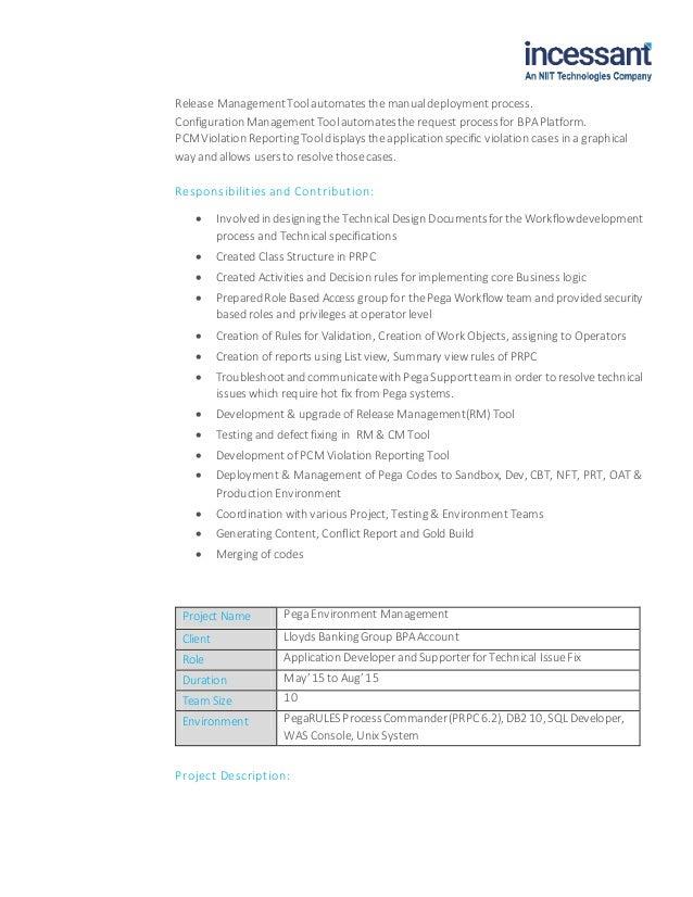 pega developer resume pega sle resume pega cssa resumes