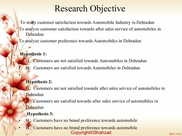research papers customer satisfaction automobile industry