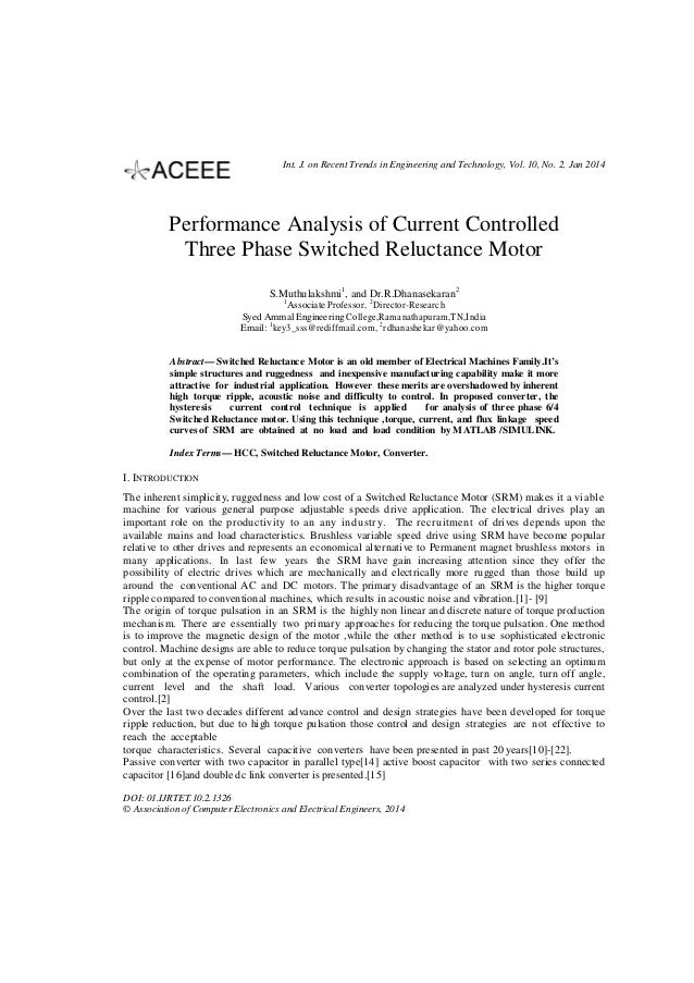 Int. J. on Recent Trends in Engineering and Technology, Vol. 10, No. 2, Jan 2014  Performance Analysis of Current Controll...