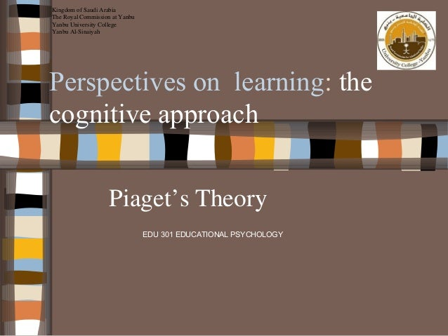 Perspectives on Learning Cogintive Approach-Piaget
