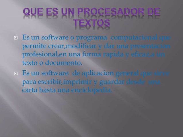  Es un software o programa computacional que  permite crear,modificar y dar una presentacion  profesional,en una forma ra...