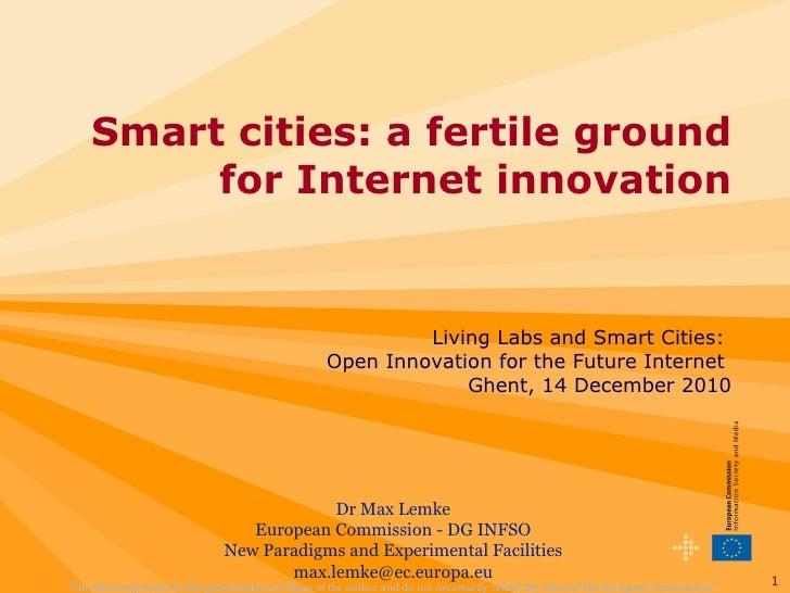 Max Lemke - Smart cities: a fertile ground for Internet innovation