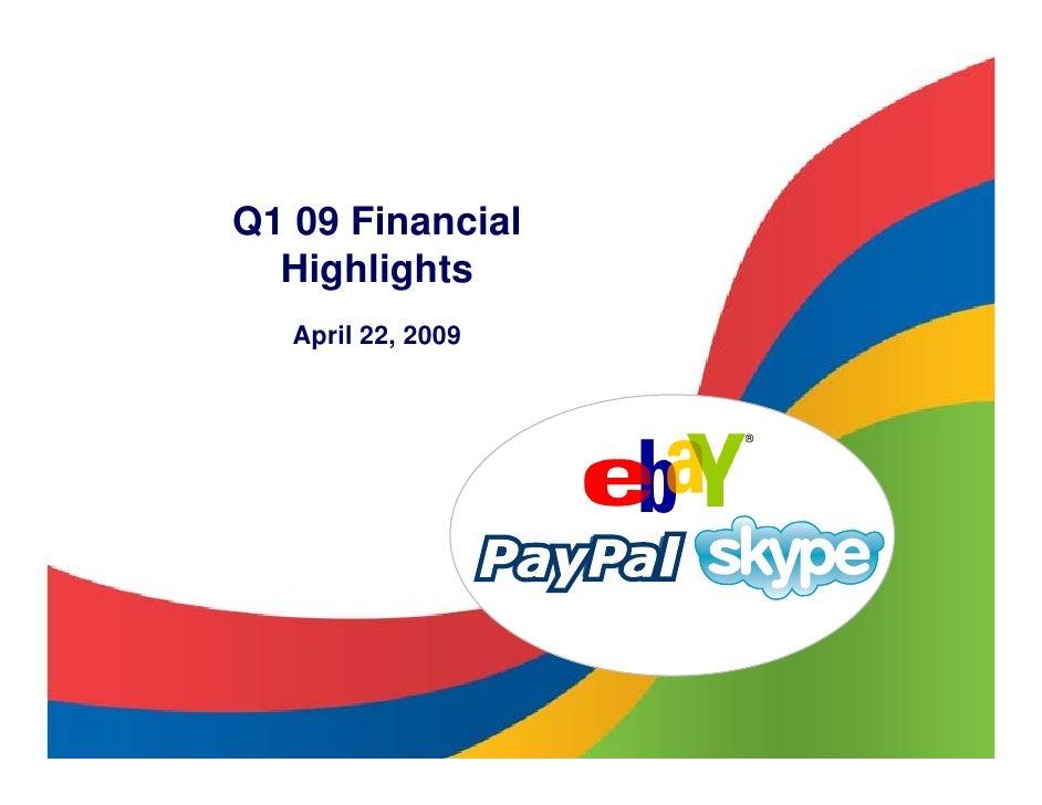 Q1 09 Financial   Highlights    April 22, 2009                       ®