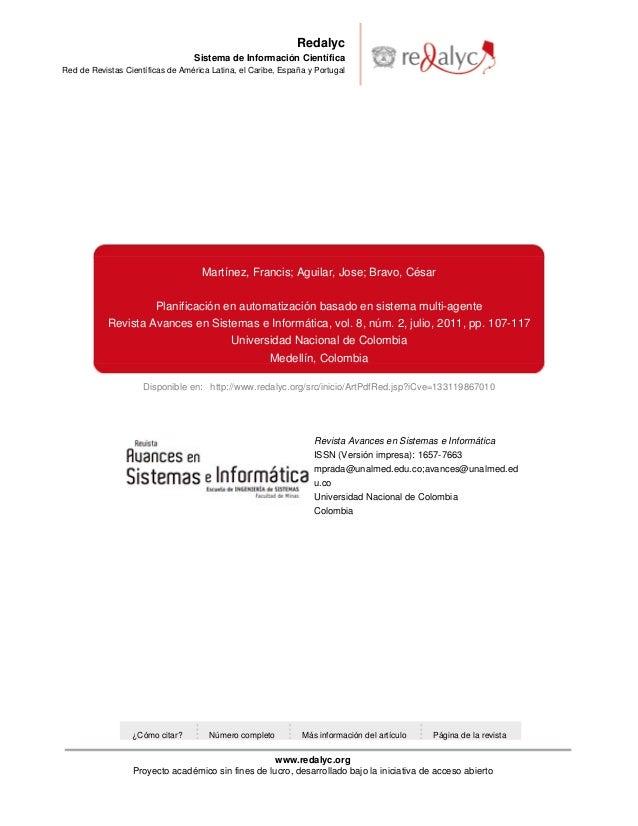 Redalyc                                   Sistema de Información CientíficaRed de Revistas Científicas de América Latina, ...