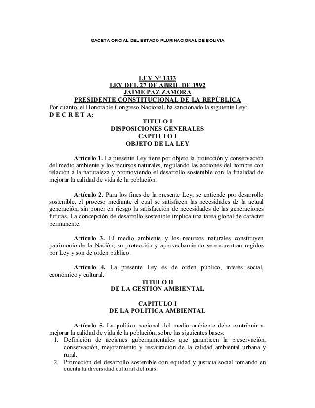 1333 Ley de Medio Ambiente