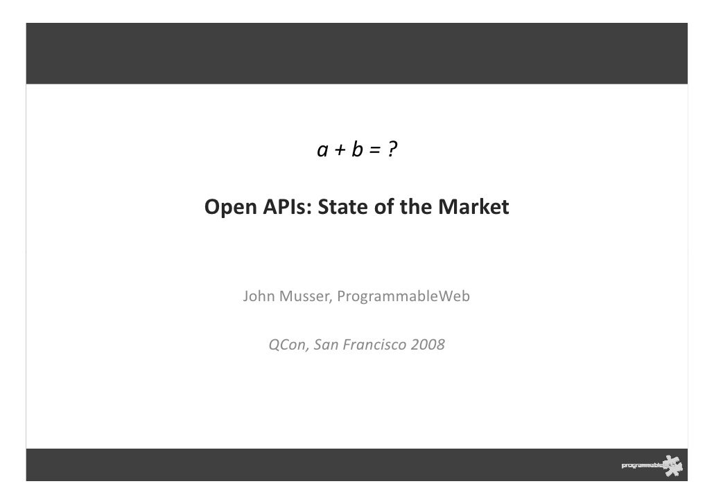 Open Ap Is State Of The Market