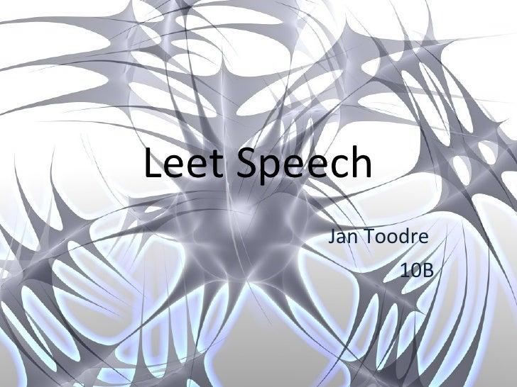 1337 - speech