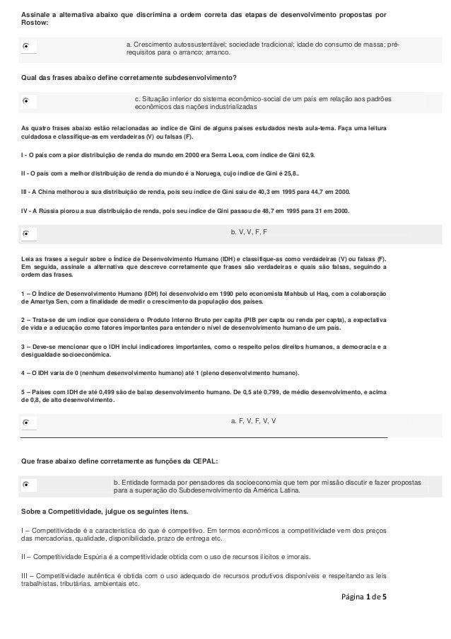 Respostas Desenvolvimento Econômico_A4/A5