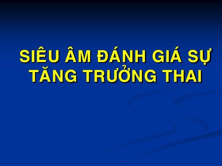 Sieu Am Danh Gia Su Tang Truong Cua Thai