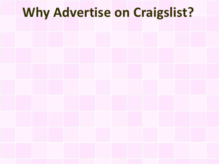 Why Advertise on Craigslist?