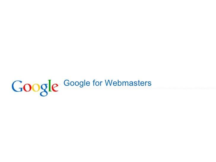 Cubrickz - Tutorial: Google for Webmasters