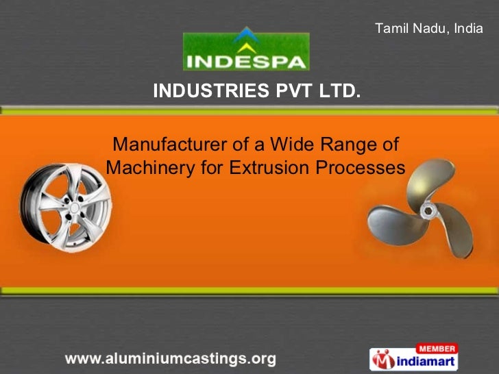 Manufacturer of a Wide Range of Machinery for Extrusion Processes