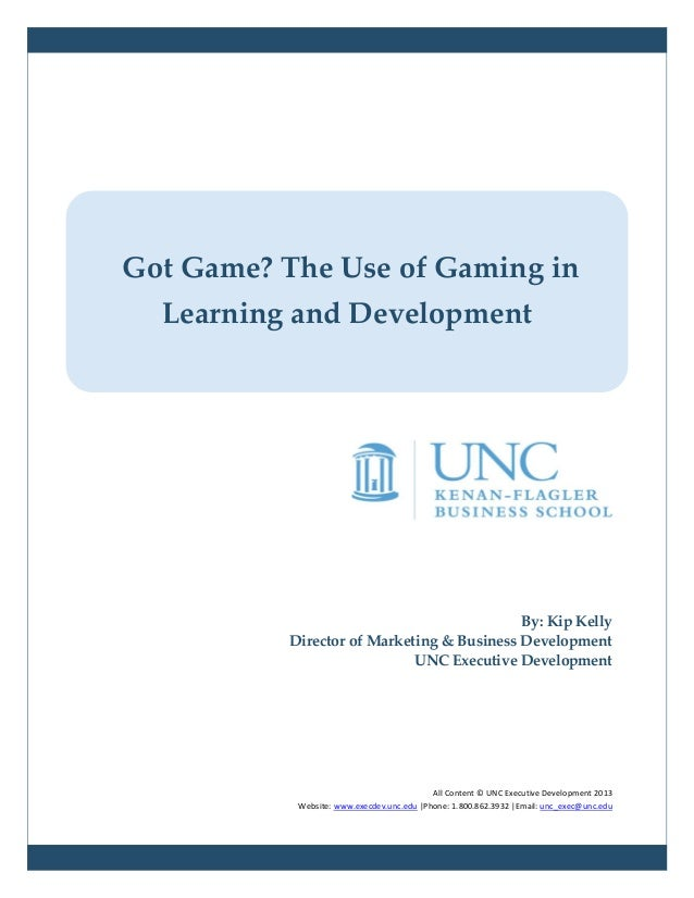 Got Game? The Use of Gaming in Learning and Development