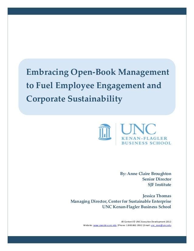 By: Anne Claire BroughtonSenior DirectorSJF InstituteJessica ThomasManaging Director, Center for Sustainable EnterpriseUNC...