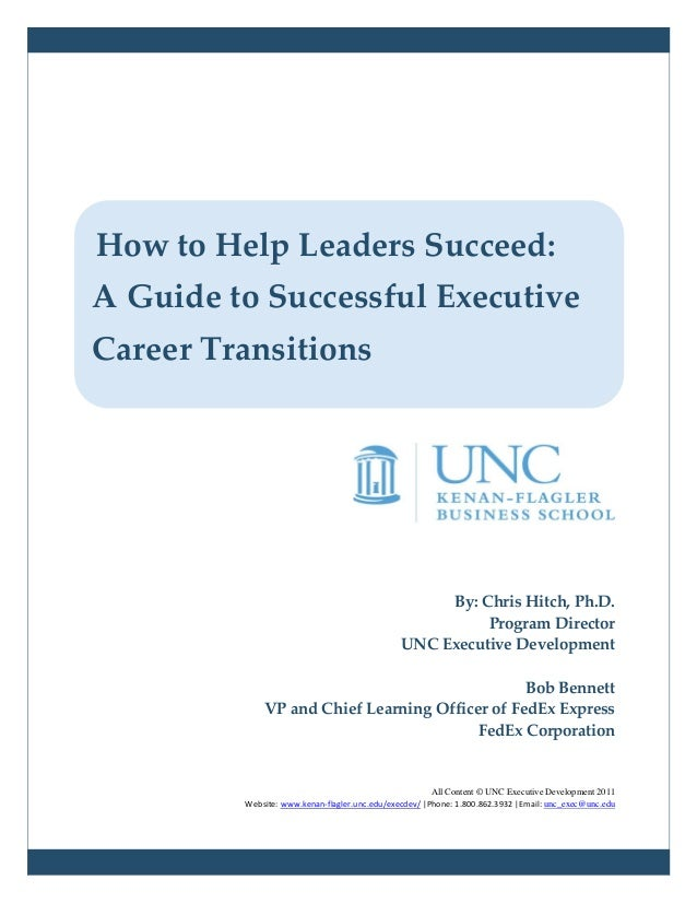 How to Help Leaders Succeed: A Guide to Successful Executive Career Transitions