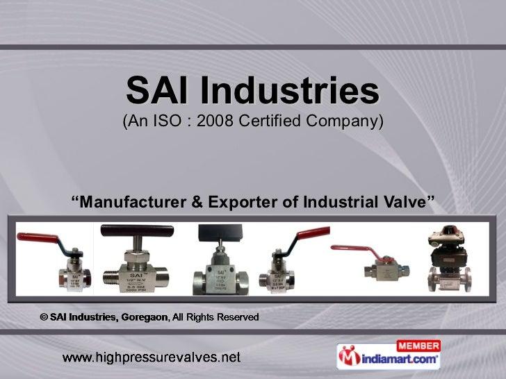 SAI Industries Maharashtra  India