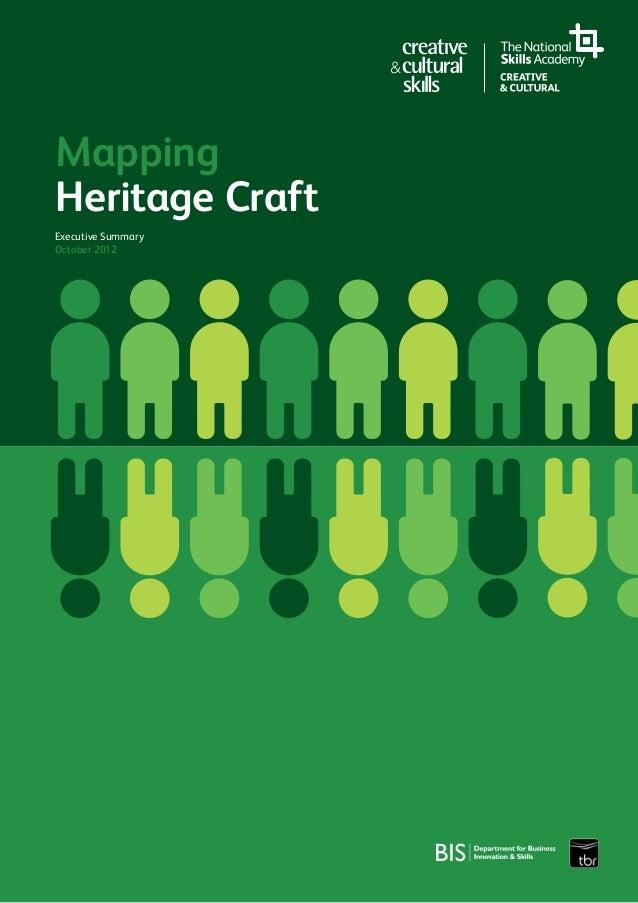 MappingHeritage CraftExecutive SummaryOctober 2012