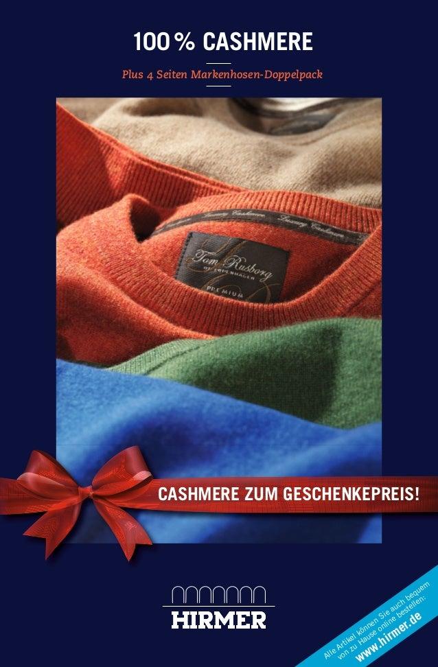 100 % CASHMERE Plus 4 Seiten Markenhosen-Doppelpack  CASHMERE ZUM GESCHENKEPREIS!  m ue eq : h b en uc stell ea e Si e b d...