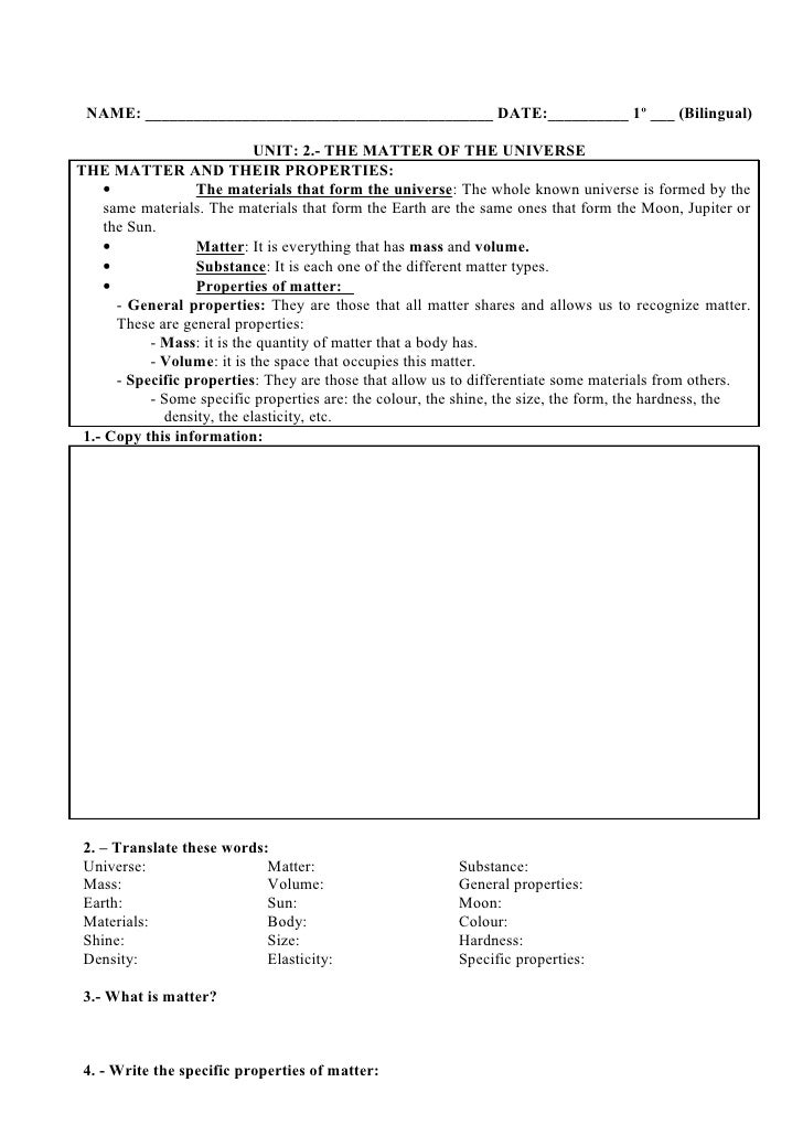 Dating the universe worksheet