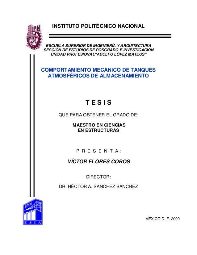 INSTITUTO POLITÉCNICO NACIONAL  ESCUELA SUPERIOR DE INGENIERÍA Y ARQUITECTURA SECCIÓN DE ESTUDIOS DE POSGRADO E INVESTIGAC...