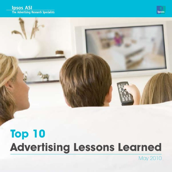Top 10Advertising Lessons Learned                      May 2010