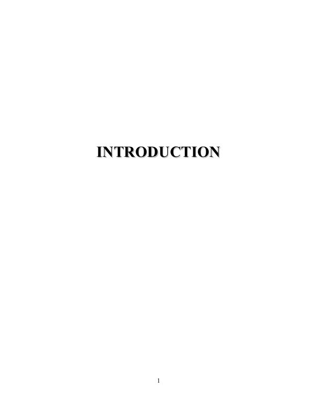 INTRODUCTIONINTRODUCTION 1