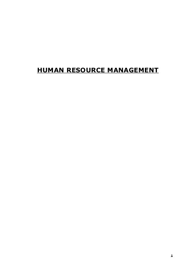 135988925 human-resource-management-notes-mba