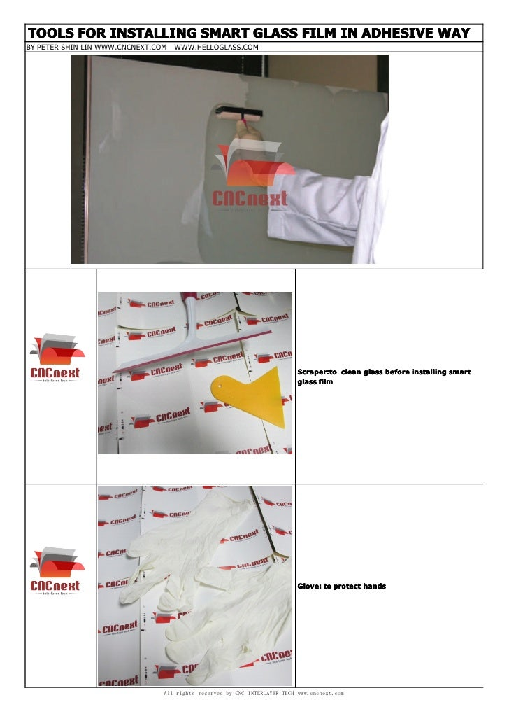 TOOLS FOR INSTALLING SMART GLASS FILM IN ADHESIVE WAY-V2D0512