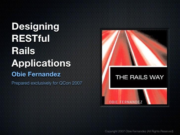 Designing Res Tful Rails Applications