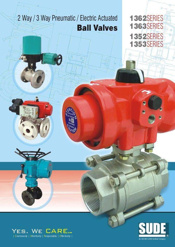 1362 1363 1352 1353 ball valve with elect and pneu actuator