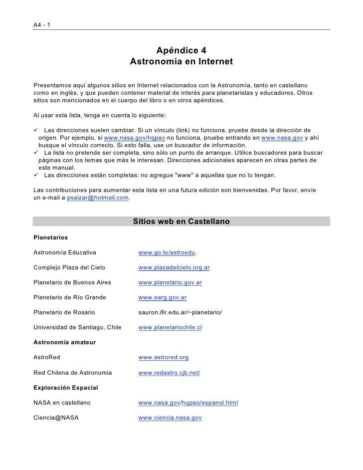 A4 - 1                                        Apéndice 4                                   Astronomía en InternetPresentam...