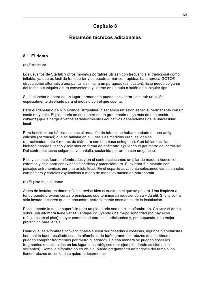 69                                         Capítulo 8                           Recursos técnicos adicionales8.1. El domo(...