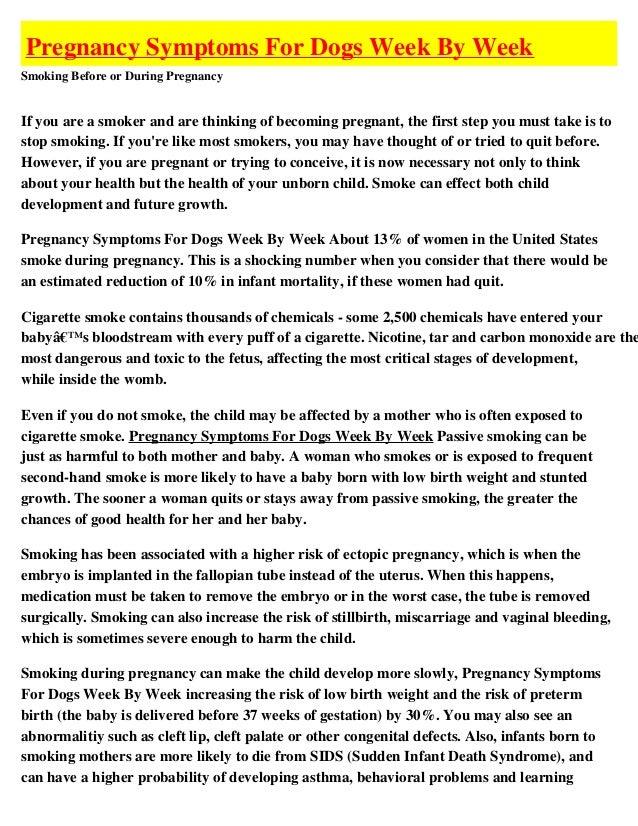 Pregnancy for dogs week by week