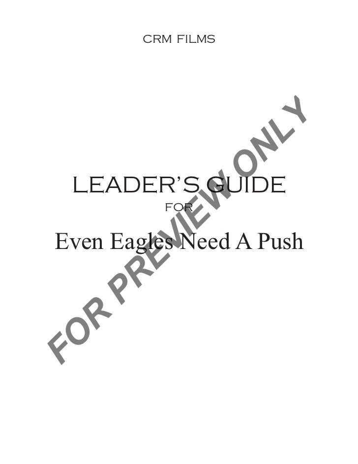 CRM FILMS                     LY                     N                 O  LEADER'S GUIDE             W           FOR      ...