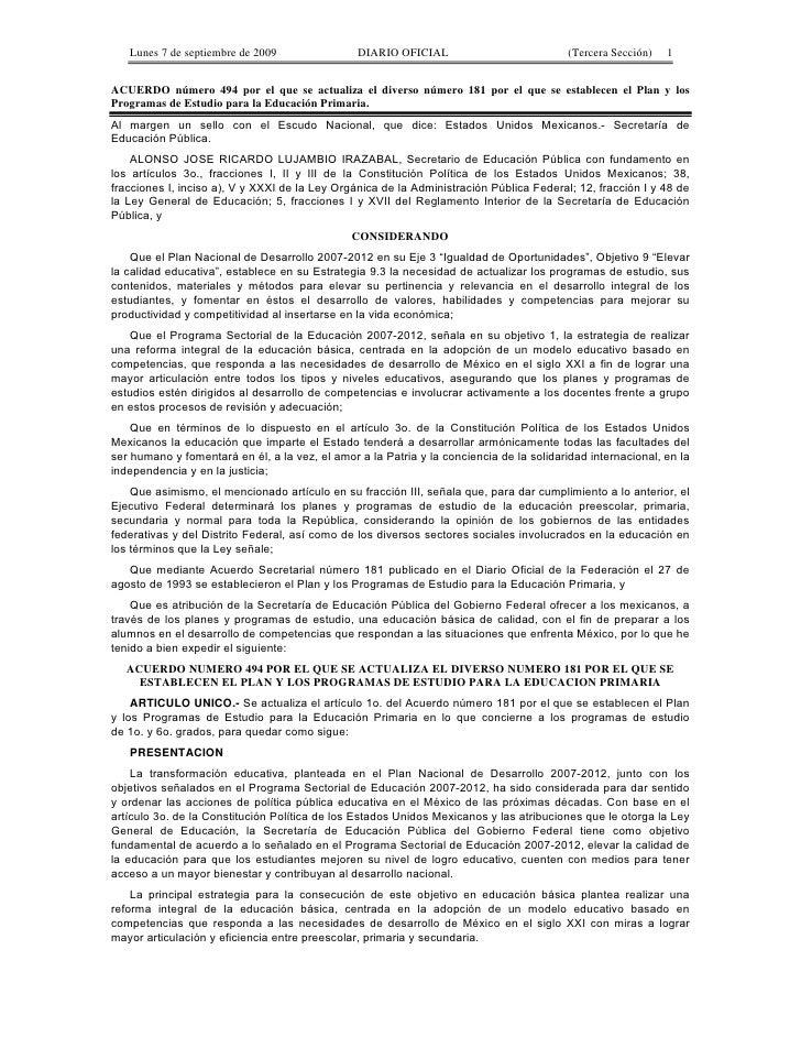 lectura 6 d Acuerdo 494 secretarial