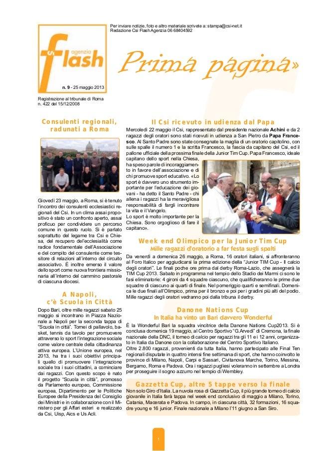 Agenzia 24 maggio 2013
