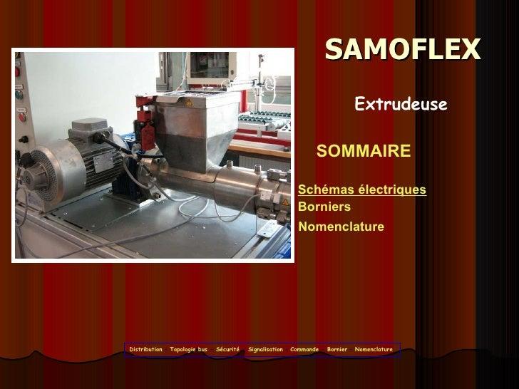 SAMOFLEX SOMMAIRE Schémas électriques Borniers Nomenclature Extrudeuse Distribution  –  Topologie bus  -  Sécurité  -  Sig...