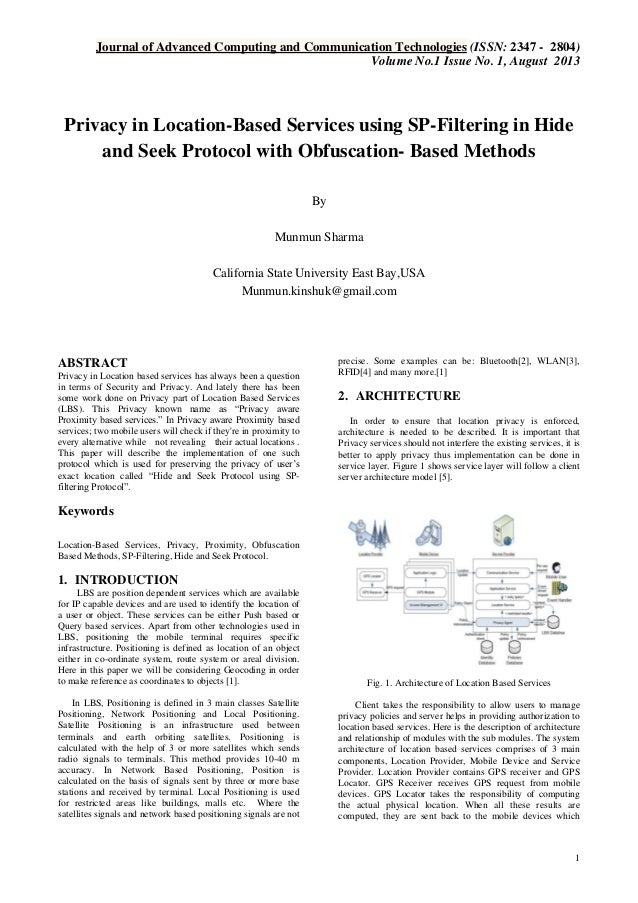 Journal of Advanced Computing and Communication Technologies (ISSN: 2347 - 2804) Volume No.1 Issue No. 1, August 2013  Pri...