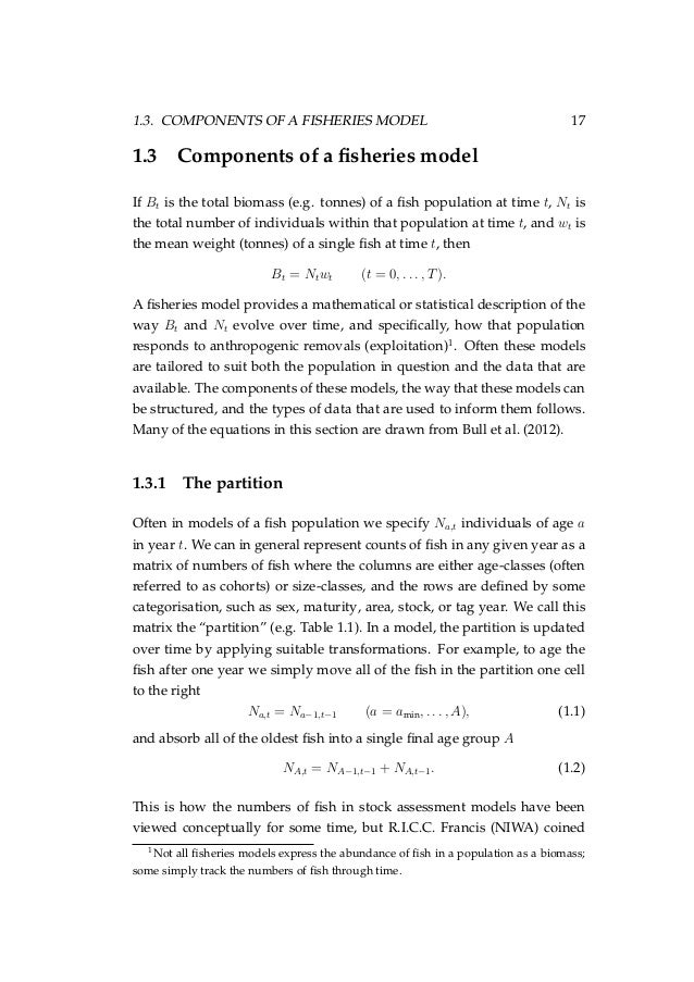 When writing a thesis regarding Population Dynamics, what topics/tables/graphs/computations should I include?