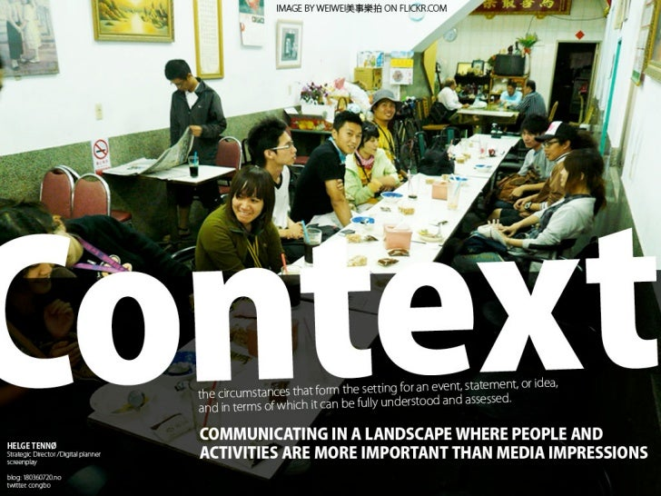 Context Marketing, arenas, utilities and the convergence of them