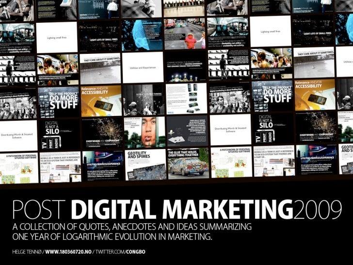 Post Digital Marketing 2009