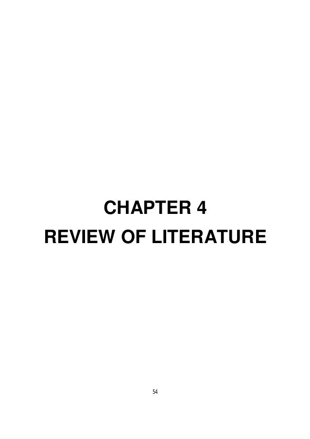 Stress management review of literature