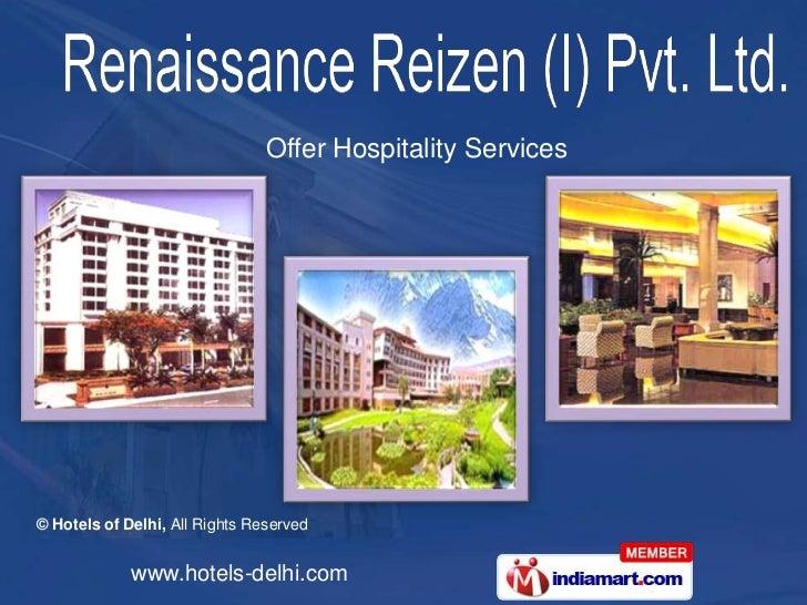 Hotels of Delhi India