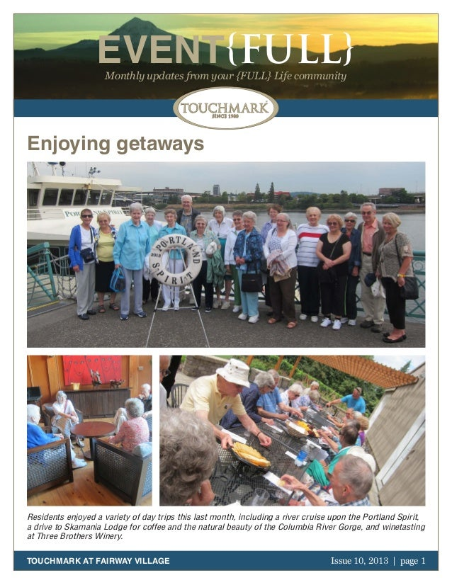 Touchmark at Fairway Village - October 2013 Newsletter