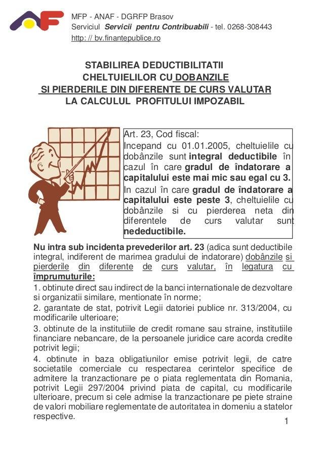 MFP - ANAF - DGRFP Brasov Serviciul Servicii pentru Contribuabili - tel. 0268-308443 http: // bv.finantepublice.ro  STABIL...