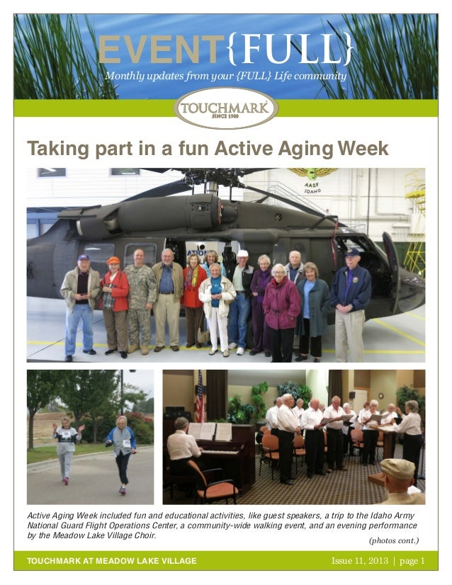 Touchmark at Meadow Lake Village - November 2013 Newsletter