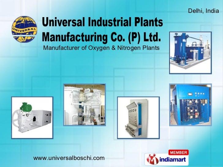 Universal Industrial Plants Manufacturing Co.(P) Ltd. Delhi India